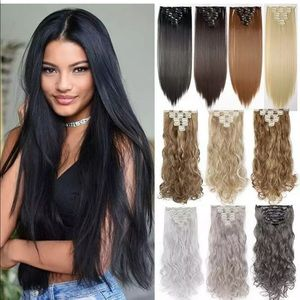 NWT Dark black 26inch straight long hair extension